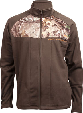 Rocky Men's Full-Zip Realtree Camo Fleece Jacket, Brown, hi-res