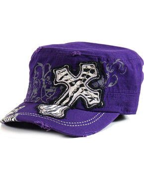 Savana Women's Decaled Cross Military Hat , , hi-res
