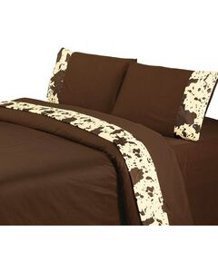HiEnd Accents Printed Cowhide 4-Piece King Sheet Set, , hi-res