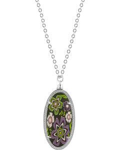 Jilzarah Prairie Silver Frame Pendant Necklace, Prairie, hi-res