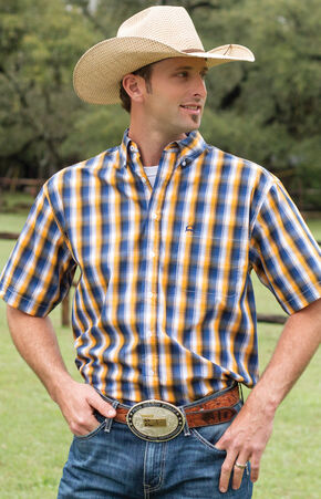 Cinch Men's Multi Tri-Blend One Pocket Short Sleeve Shirt, Multi, hi-res