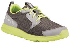 Ariat Youth Boys' Fuse Grey Green Mesh Shoes, , hi-res