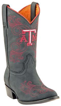 Gameday Boots Girls' Texas A&M University Western Boots - Medium Toe, , hi-res