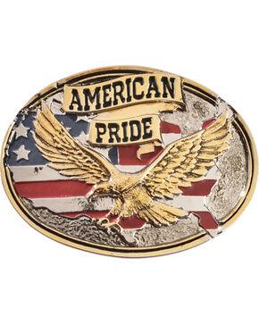 Montana Silversmiths American Pride Belt Buckle, Silver, hi-res