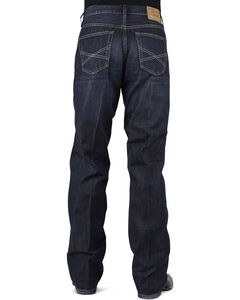 Stetson 1312 Relaxed Fit Jeans with Flag Detail - Boot Cut - Big and Tall, , hi-res
