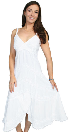 Scully Peruvian Cotton Dress, White, hi-res
