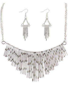 Shyanne Women's Waterfall Jewelry Set, Silver, hi-res