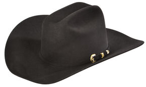 Serratelli Men's Black 10X Fur Felt Austin Cowboy Hat, Black, hi-res