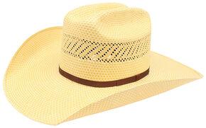 Ariat 20X Americana Straw Cowboy Hat  , Natural, hi-res