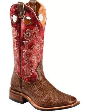 Boulet Shoulder Taurus Noce Puma Rojo Cowgirl Boots - Square Toe, Dark Brown, hi-res