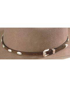 Concho Embellished Leather Hat Band, , hi-res