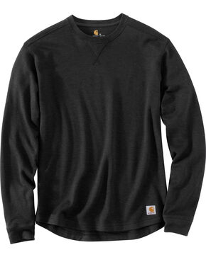 Carhartt Men's Tilden Long Sleeve Crewneck Sweatshirt - Big & Tall, Black, hi-res
