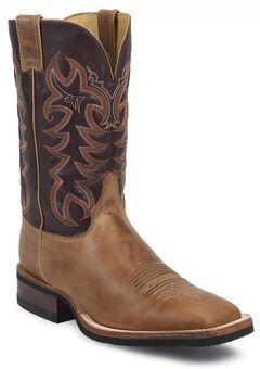 Justin Q-Crepe Cowboy Boots - Wide Square Toe, , hi-res