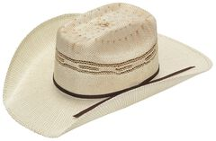Twister Kids' Tan Bangora Straw Cowboy Hat, , hi-res