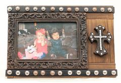 "Studded Cross Photo Frame - 4"" x 6"", , hi-res"