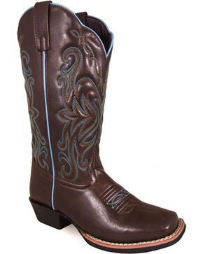 Smoky Mountain Women's Altoona Western Boots - Square Toe , Brown, hi-res