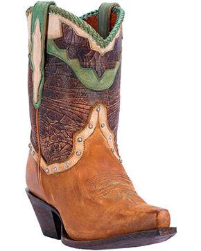 Dan Post Women's Danica Short Western Boots - Snip Toe, Tan, hi-res