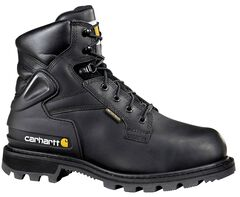 """Carhartt 6"""" Black Work Boots - Safety Toe, , hi-res"""