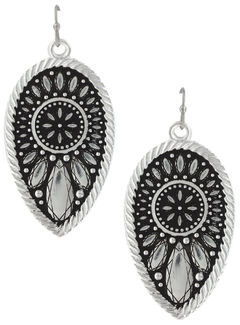 Montana Silversmiths Women's Frozen Prairie Clover Earrings, , hi-res