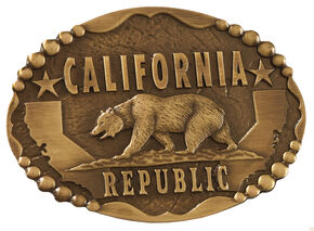 Cody James California Bear Belt Buckle, Gold, hi-res