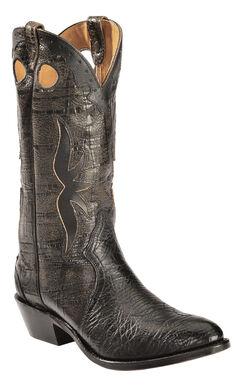 Boulet Black Shoulder Boots - Medium Toe, , hi-res