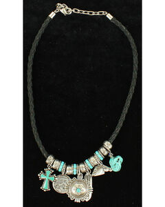 Blazin Roxx Turquoise Charm Necklace, , hi-res