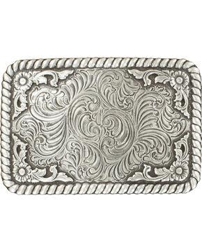 Nocona Silver Scroll Buckle, Silver, hi-res