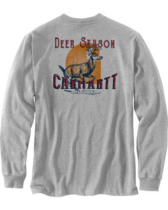 Carhartt Men's Workwear Graphic Long Sleeve T-Shirt, Grey, hi-res