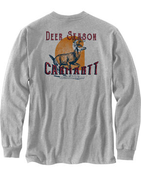 Carhartt Men's Workwear Graphic Long Sleeve T-Shirt, Grey, hi-res