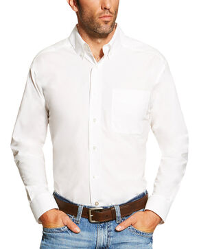 Ariat Men's White Alden Shirt , White, hi-res