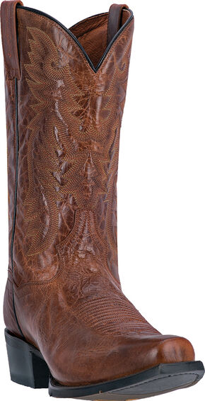 Dan Post Cognac Brown O'Neal Cowboy Boots - Square Toe , Cognac, hi-res