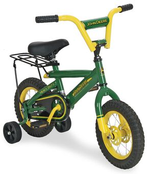 "John Deere Kids' 12"" Bicycle, Green, hi-res"