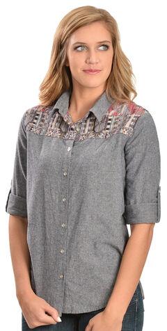 White Crow Women's Aztec Print Long Sleeve Shirt, , hi-res