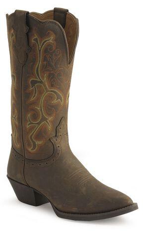 Justin Stampede Western Cowgirl Boots - Pointed Toe, Sorrel, hi-res