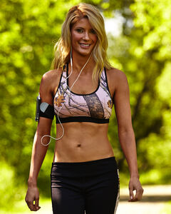 Wilderness Dream Pink and Black Mossy Oak Break-Up Sports Bra, , hi-res