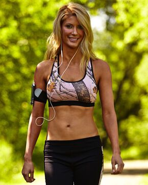 Wilderness Dream Pink and Black Mossy Oak Break-Up Sports Bra, Camouflage, hi-res