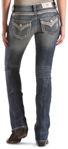 Miss Me Women's Zig Zag Bootcut Jeans , Indigo, hi-res