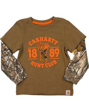 Carhartt Toddler Boys' Brown Hunt Club Layered T-Shirt , Brown, hi-res