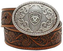 Ariat Boys Range Tooled Belt, , hi-res
