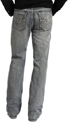 "Rock and Roll Cowboy Double Barrel Relaxed Fit Connected ""V"" Pocket Jeans, , hi-res"
