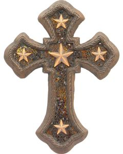 Western Moments Cast Iron Amber Star Wall Cross, , hi-res