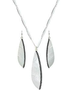 Montana Silversmiths Women's Beaded Plume Feather Jewelry Set , , hi-res