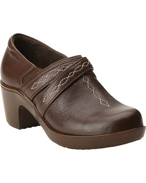 Ariat Women's Ellie Clogs, Chocolate, hi-res