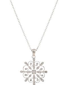 Montana Silversmiths Women's A Perfect Snowflake Necklace, , hi-res