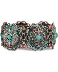 Shyanne Women's Antiqued Concho Bracelet, , hi-res