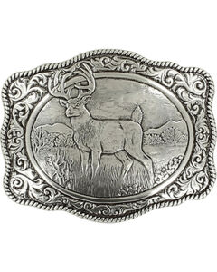 Crumrine White Tail Deer Buckle, , hi-res