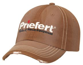Priefert Distressed Bill Cap, Brown, hi-res