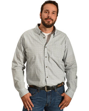 Cody James Men's Solvang Patterned Long Sleeve Shirt - Big & Tall, White, hi-res
