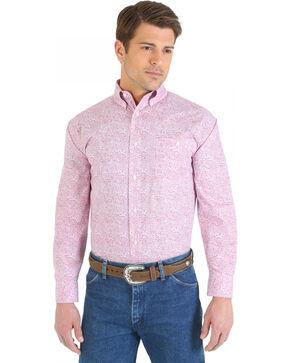 "Wrangler ""Tough Enough To Wear Pink"" Paisley Long Sleeve Shirt, Pink, hi-res"