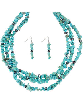 Shyanne Women's Turquoise Jewelry Set, No Color, hi-res